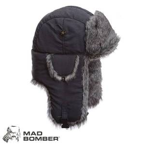 Mad Bomber Supplex Bomber Hat (XL)- Gry/Gry Faux Fur