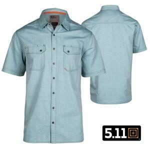5.11 Tactical Herringbone S/S Shirt (M)- Pond Herringbone