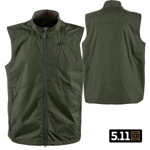 5.11 Tactical Cascadia Windbreaker Vest (M)- TDU Green
