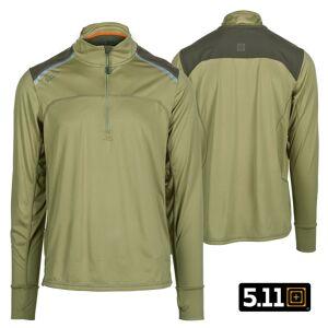 5.11 Tactical Max Effort 1/4 Zip Pullover (M)- Underbrush