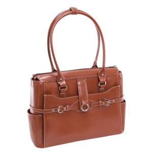 McKlein Willow Springs Leather Ladies Briefcase - Brown