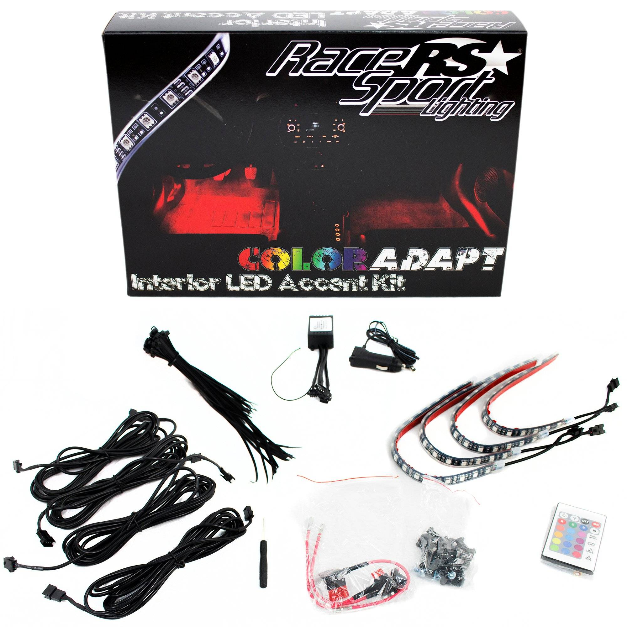Race Sport Lighting Race Sport ColorADAPT Interior LED Accent Kit with Key Card, RGB Multi-Color