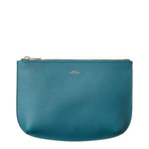 A.P.C. Sarah Leather Pochette - Blue