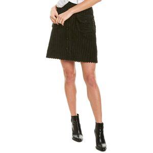 Anna Sui Cozy Cords Mini Skirt - Black - Size: 0