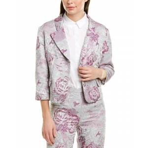 Anna Sui Peonies Jacket - Purple - Size: 4