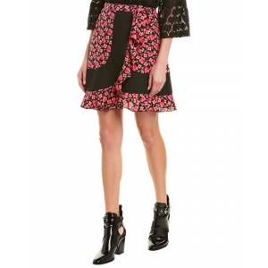 Anna Sui Wildflowers in the Wind Silk Mini Skirt - Pink - Size: 0