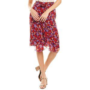 Anna Sui Pop Petunia Chiffon Skirt - Purple - Size: 8