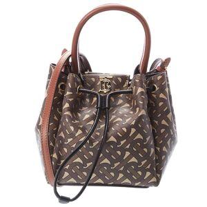 Burberry Monogram E-Canvas & Leather Bucket Bag