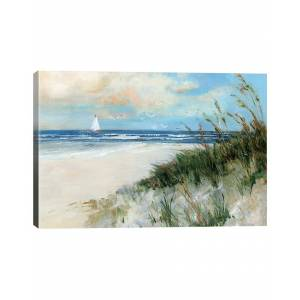 iCanvas Oak Island Sunrise Wall Art  by Sally Swatland - Size: 32x48