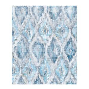 Advantage Gilboa Blue Ikat Wallpaper