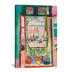 """iCanvas Open Window at Collioure (1905) by Henri Matisse - Size: 18"""" x 26"""""""