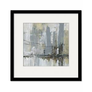 """Courtside Market Wall Decor Midtown Bridge II Gallery Collection Framed Art - Size: 16"""" x 16"""""""