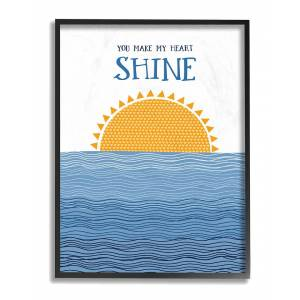 """Stupell The Kids Room by Stupell You Make My Heart Shine - Size: 16"""" x 20"""""""