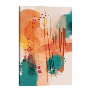 iCanvas Sunset Beach by Soul Curry Art & Illustrations Wall Art - Size: 40x26