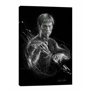iCanvas Bruce Lee by Erick Centeno - Size: 40x26