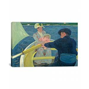 """iCanvas The Boating Party, 1893-94 by Mary Stevenson Cassatt Canvas Reproduction - Size: 18"""" x 26"""""""