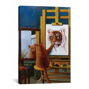 """iCanvas iCanvas Norman Catwell by Lucia Heffernan - Size: 18"""" x 26"""""""