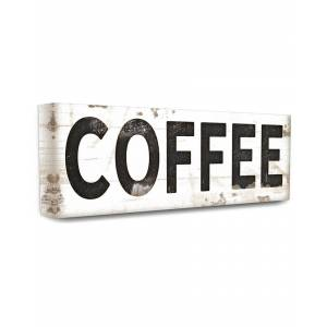 """Stupell Industries COFFEE Typography Vintage Sign - Size: 10"""" x 24"""""""