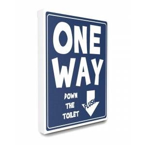 """Stupell One Way Down Toilet Sign - Size: 24"""" x 30"""""""