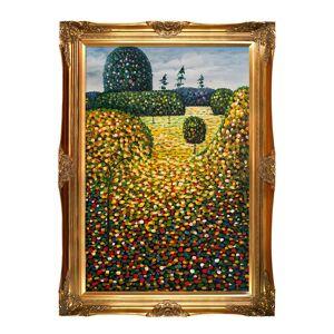 Museum Masters La Pastiche by overstockArt Poppy Field by Gustav Klimt