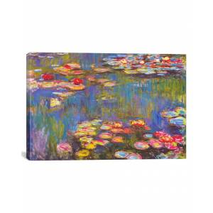 """iCanvas Water Lilies, 1916 by Claude Monet - Size: 18"""" x 26"""""""