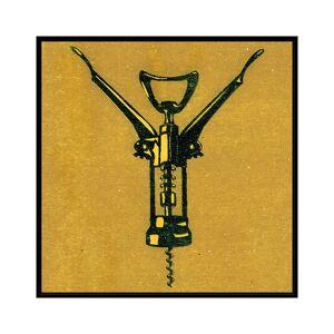 "Jonathan Bass Studio Corksrew, Decorative Framed Hand Embellished Canvas - Size: 42"" x 42"""
