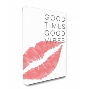 "Stupell Industries Good Times Good Vibes Lip Print - Size: 24"" x 30"""