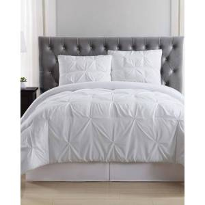 Truly Soft Pleated White Comforter Set - Size: Twin XL