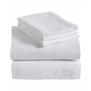 Superior Home City Flannel Solid Sheet Set - White - Size: Twin XL