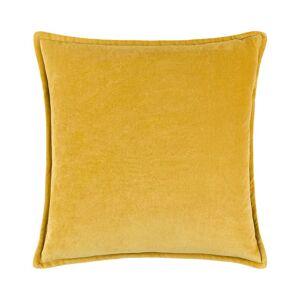 "Surya Cotton Down Pillow - Yellow - Size: 18"" x 18"""