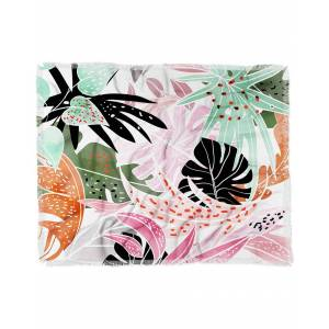 Deny Designs 83 Oranges Tropical Palm Leaves Woven Throw - Size: 50x60