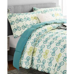 Peace Nest Peace Nest Classic Bicycles Reversible All Season Down Alternative Comforter Set - Size: King