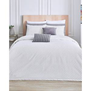 Lacoste Guethary Duvet Set - White - Size: Full/Queen