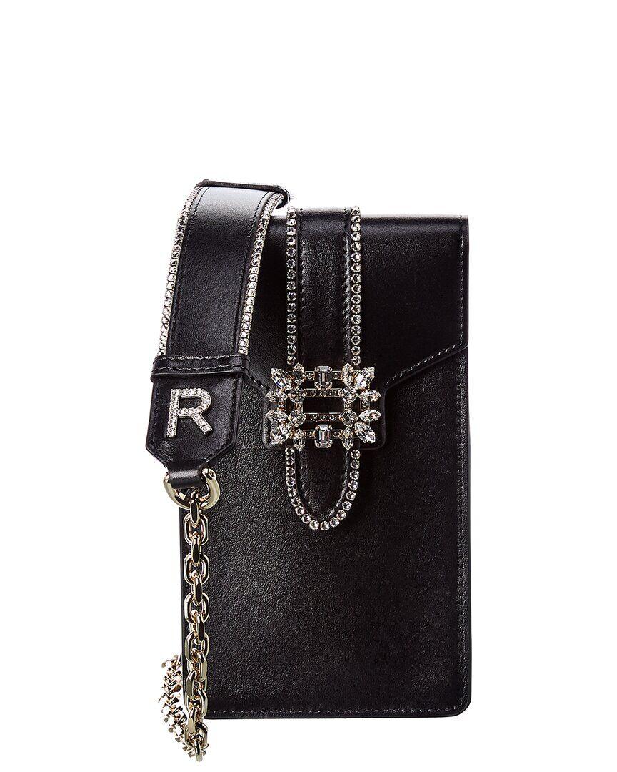 Roger Vivier Miss Vivier Pocket Leather Phone Pouch