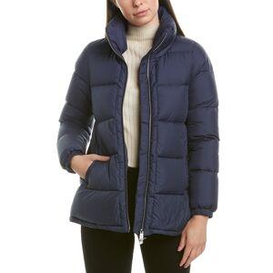 add Short Down Jacket - Blue - Size: 40