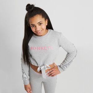 Sonneti Girl's Naomi Ruched Crew Sweatshirt Junior - Kids - Grey/Pink