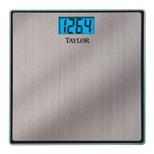 Taylor Brushed Stainless Steel Digital Bathroom Scale, Grey