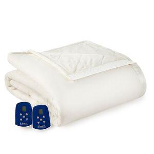 Micro Flannel Ultra Velvet Heated Blanket, Natural, King - Size: King