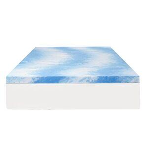"Comfort Revolution 3"" Gel Infused Memory Foam Topper, Blue, King - Size: King"