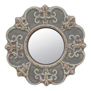 Stonebriar Collection Ceramic Wall Mirror, Grey, Small - Size: Small