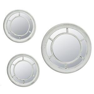 Enchante Accessories 3-Piece Wheel Mirror Set, Grey - Size: One Size