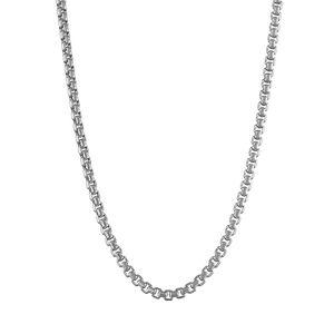 """Jordan Blue 14k Gold Box Chain Necklace, Women's, Size: 24"""", White - Size: 24"""""""