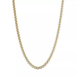 "Jordan Blue 14k Gold Box Chain Necklace, Women's, Size: 20"", Yellow - Size: 20"""