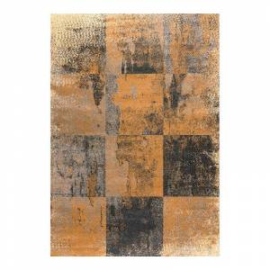 Art Carpet Twister Checkerboard Rug, Grey, 5X8 Ft