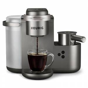Keurig K-Cafe Single-Serve K-Cup Pod Coffee, Latte & Cappuccino Maker, Grey - Size: One Size
