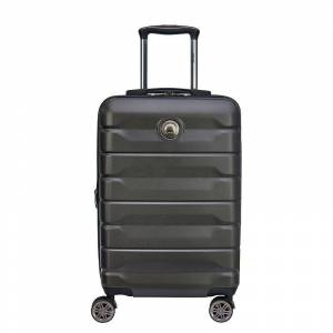 Delsey Air Armour Hardside Spinner Luggage, Black, 28 INCH - Size: 28 INCH
