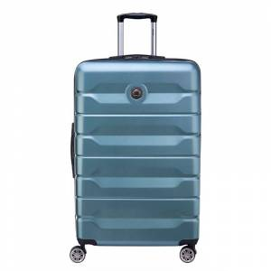 Delsey Air Armour Hardside Spinner Luggage, Dark Green, 28 INCH - Size: 28 INCH