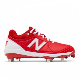 New Balance Women's Fuse v2 Low Cut Metal  - Red/White - Size: 6 D