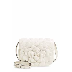 Valentino Garavani Small Atelier Rose Leather Shoulder Bag - Ivory
