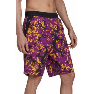 adidas Archive Print Woven Shorts, Size X-Large in Multicolor/glory Purple at Nordstrom